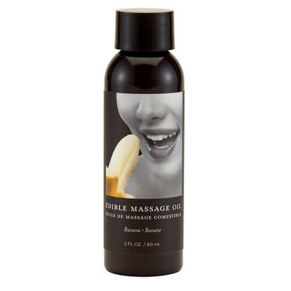 Picture of Earthly Body Edible Massage Oil 2oz-Banana