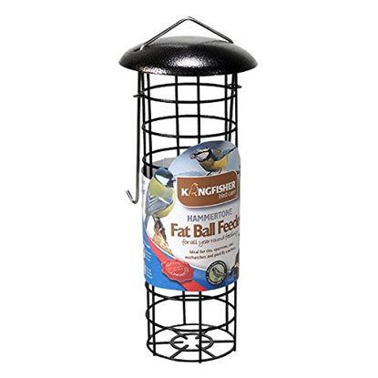 Picture of Kingfisher BF042 Premium Hammer Tone Finish Fat Ball Bird Feeder - Dark Brown