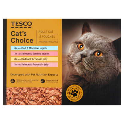 Picture of Tesco Cats Choice Fish In Jelly Multipack 12X85g