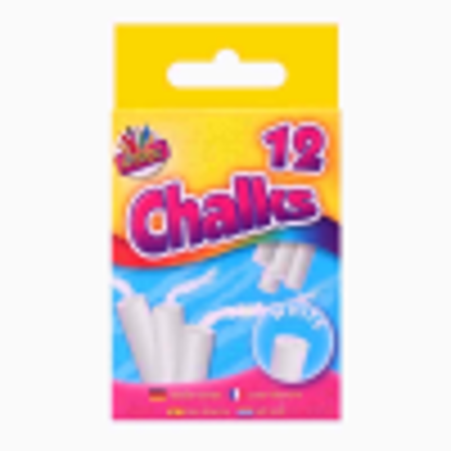 Picture of 12 White Chalks For Use On Blackboards At Home Or School