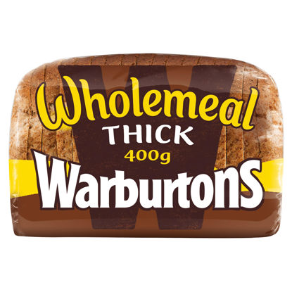 Picture of Warburtons Thick Wholemeal Bread 400g