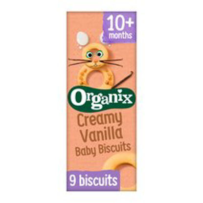 Picture of Organix Creamy Vanilla Baby Biscuits 54G