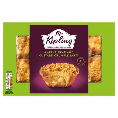 Picture of Mr Kipling 6Pack Apple Pear& Custard Crumble Tarts