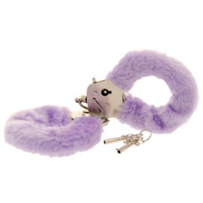 Picture of Toy Joy Furry Fun Hand Cuffs Purple Plush
