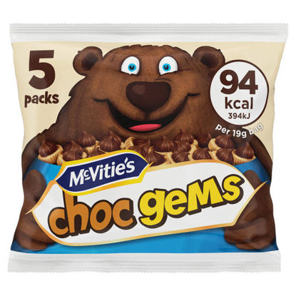 Picture of McVitie's Choc Gems Milk Chocolate Topped Biscuits 5 x 19g