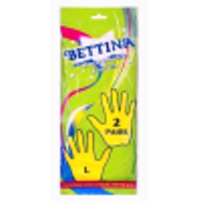 Picture of 2 pairs of large household gloves non slip gloves comfort fit for household cleaning and gardning