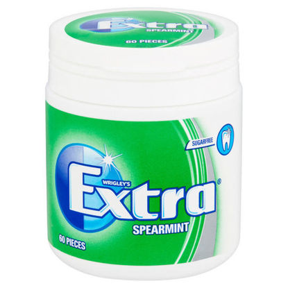 Picture of Extra Spearmint Chewing Gum Sugar Free Bottle 60 Pieces