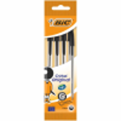 Picture of BIC POUCH 4 BLACK PENS