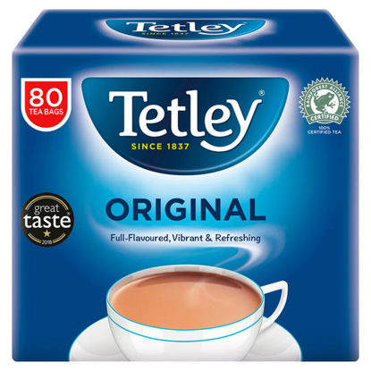 Picture of Tetley Softpack Teabags 80 Pack 250G