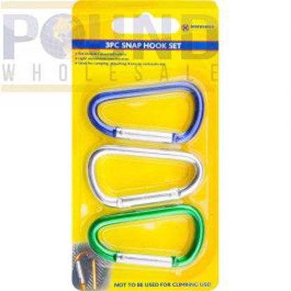Picture of MARKSMAN SNAP HOOK SET ASSORTED COLOURS 3PC