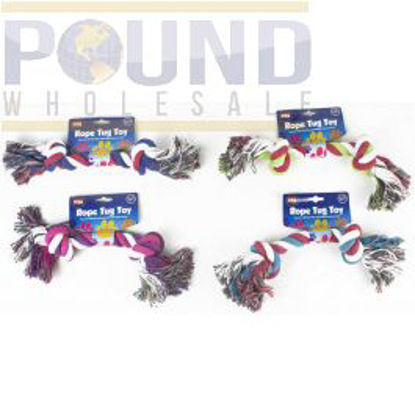 Picture of WORLD OF PETS TOY ROPE TUG DOUBLE KNOT WP300