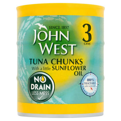 Picture of John West Tuna Chunks with a Little Sunflower Oil 3 x 110g