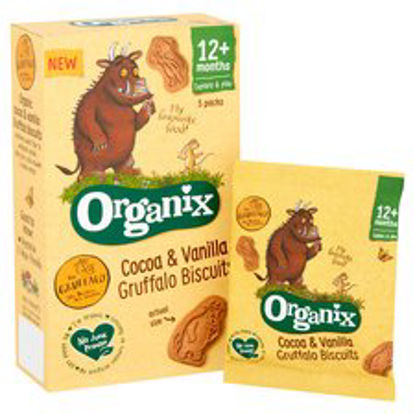 Picture of Organix Cocoa & Vanilla Gruffalo Biscuits 5X20g