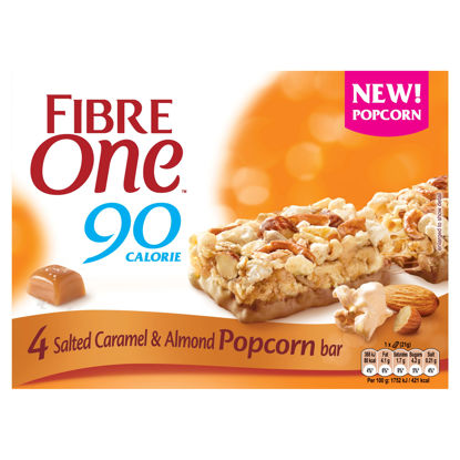 Picture of Fibre One Salted Caramel & Almond Popcorn Bar4x21g