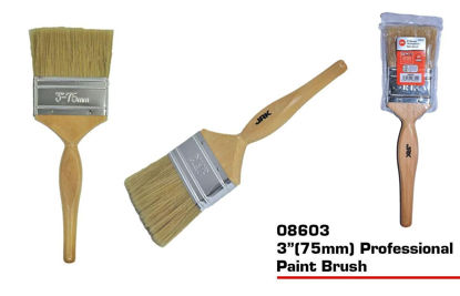 """Picture of JAK Professional Paint Brush with Wooden Handle - 3"""""""