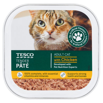 Picture of Tesco Chicken Cat Food Pate 100G