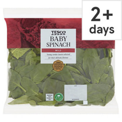 Picture of Tesco Baby Spinach 220G