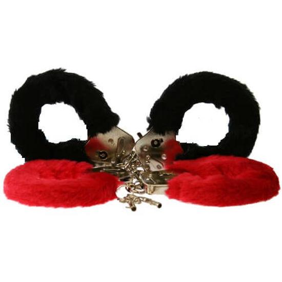 Picture of Furry Fun Cuffs-Red