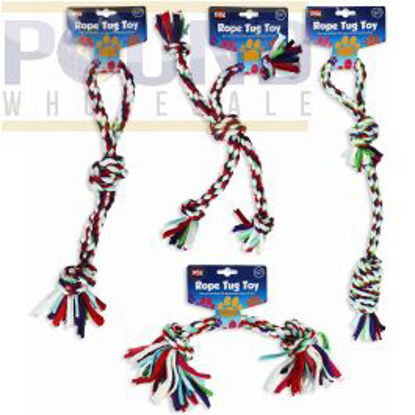 Picture of WORLD OF PETS TOY ROPE TUGS ASSORTED DESIGNS