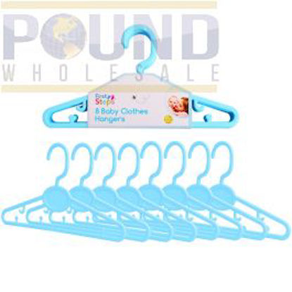 Picture of FIRST STEP 8 BABY CLOTHES HANGERS BLUE