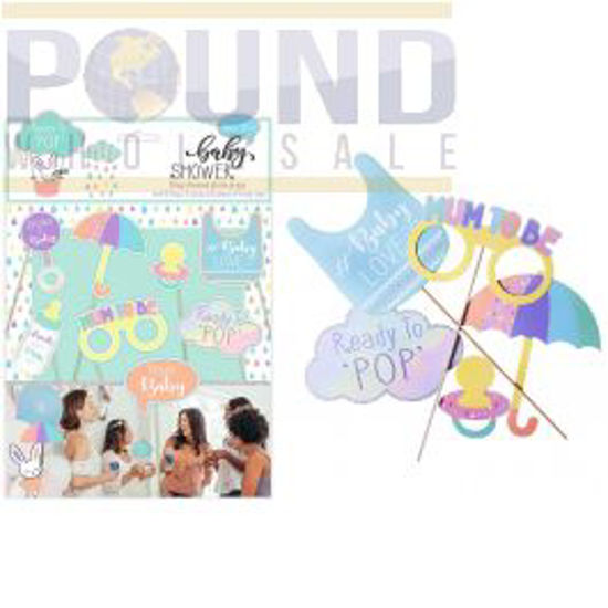 Picture of BABY SHOWER BABY-THEMED PHOTO PROPS 8 PACK