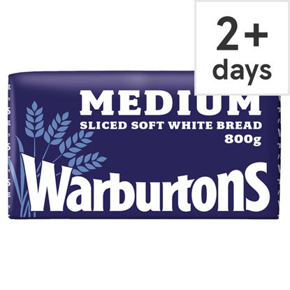 Picture of Warburtons Medium Sliced White Bread 800G