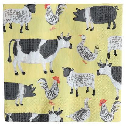 Picture of Farm Animals Napkin 33Cm 3Ply 20 Pack
