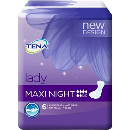 Picture of TENA Lady Maxi Night Sanitary Towels 6 Pack