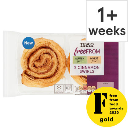 Picture of Tesco 2 Free From Cinnamon Swirls