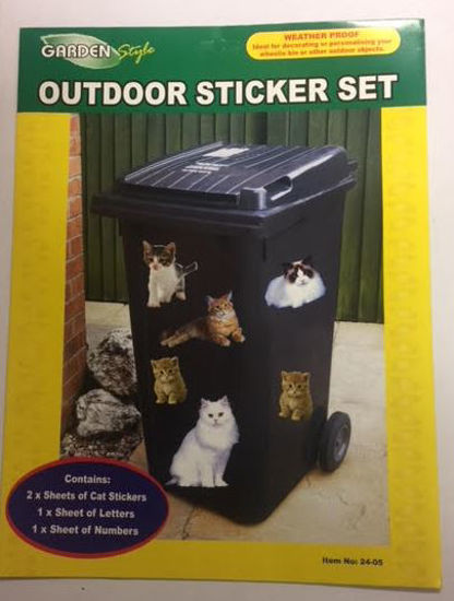 Picture of Wheelie Bin Weatherproof Outdoor Sticker Set