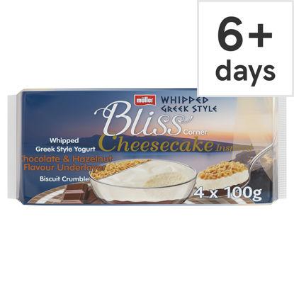 Picture of Muller Corner Bliss Cheesecake Hazelnut 4 Pack 400G