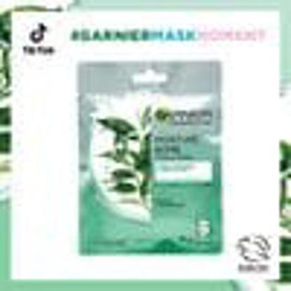 Picture of Garnier Moisture Bomb Green Tea Hydrating Face Sheet Mask