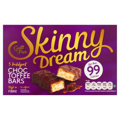 Picture of Skinny Dream Indulgent Choc Toffee Bars 5 x 25g