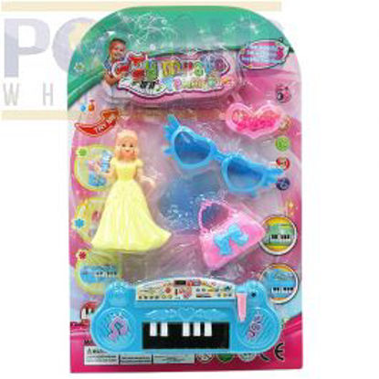 Picture of ELECTRIC PIANO WITH DOLL & BEAUTY ACCESSORIES PLAY SET