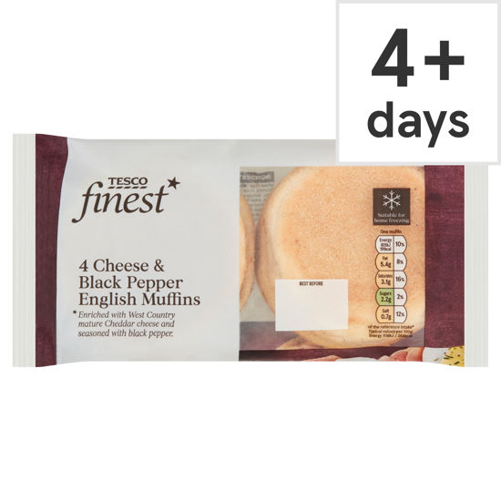 Picture of Tesco Finest 4 Cheese & Black Pepper English Muffins