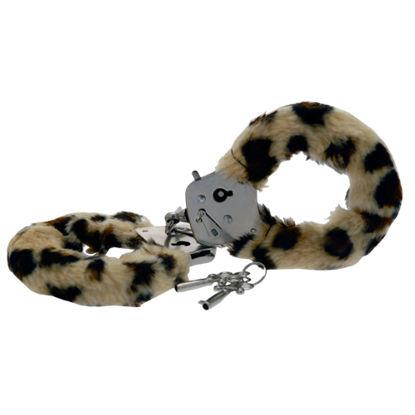 Picture of Toy Joy Furry Fun Hand Cuffs Leopard Plush