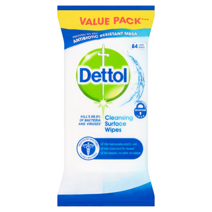 Picture of Dettol Antibacterial Surface Cleaning Wipes, 84 Wipes