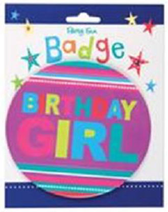 Picture of Large Happy Birthday Girl Badge