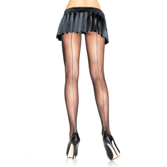 Picture of Leg Avenue Backseam Sheer Pantyhose-Black