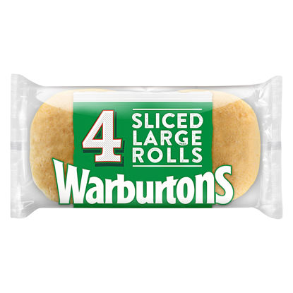 Picture of Warburtons 4 Large Sandwich Rolls