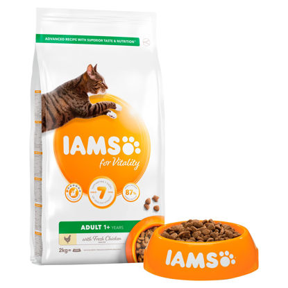 Picture of Iams Adult 1+ Cat Food With Fresh Chicken 2Kg