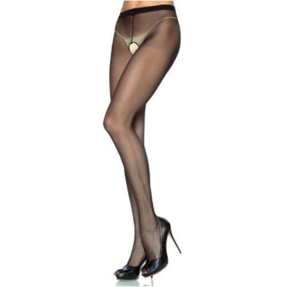 Picture of Leg Avenue Plus Size Crotchless Sheer Pantyhose
