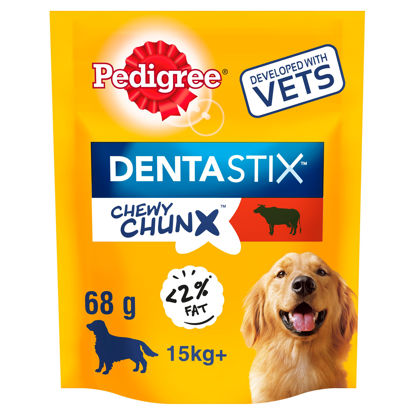 Picture of Pedigree 15Kg+ Dentastix Chewy Chunx Beef 68G