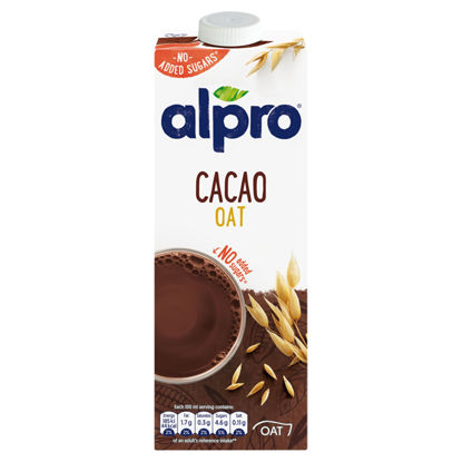 Picture of Alpro Cocao Oat Drink No Added Sugar 1 Litre