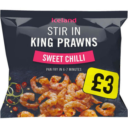 Picture of Iceland Stir In King Prawns  Sweet Chilli 200g