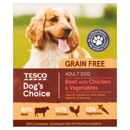 Picture of Tesco Beef & Chicken With Vegetables Dog Food Tray 400G