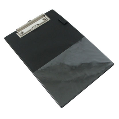 Picture of Rapesco Standard Clipboard PVC Retractable Hanging Hole A5 Black 1072