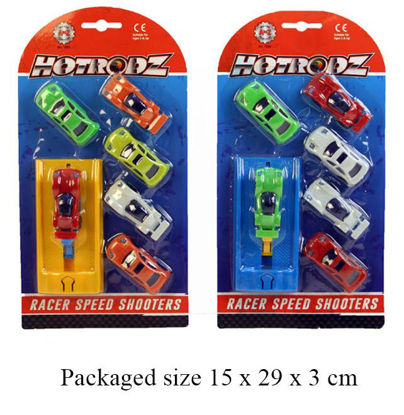 Picture of Race Speed Shooter Cars - Pack Of 6