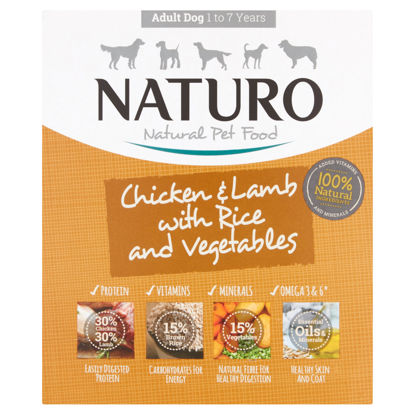 Picture of Naturo Adult Dog Chicken Lamb & Rice With Vegetable 400G
