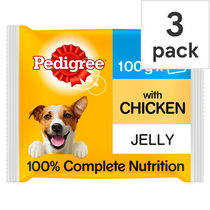 Picture of Pedigree Pouches Chicken In Jelly Dog Food 3X100g